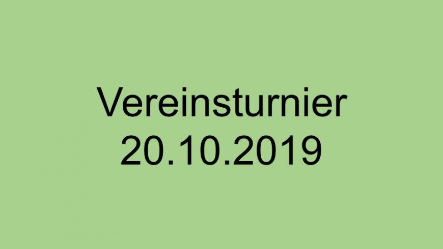 Vereinsturnier 2019